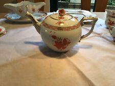 Herend Apponyi orange Teekanne Nr. 602 AOG sehr guter Zustand da. 1,2 l Volumen