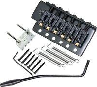 Roller Saddle Tremolo Bridge with Bar for FD Strat Squier Electric Guitar Black