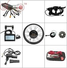 "Black 48v 1000w 26"" Fat Bike Fat Tire Front Wheel Ebike Conversion Kit Sine Wave"