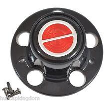 New BRONCO II RANGER EXPLORER Wheel BLACK & RED Center Hub Cap w/ Screws