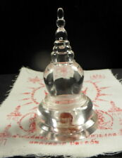 SARIRA PEARLS BUDDHA BLOOD BRAIN RELIC STUPA WITH SAFFRON THREADS + PHA YANT