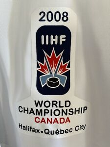 IIHF 2008 WORLD CHAMPIONSHIP QUEBEC CITY CANADA hockey jersey 100 years of game