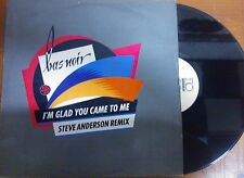 "DISCO 12"" VINILE BAS NOIR -I'M GLAD YOU CAME TO ME - ANDERSON REMIX DANCE VG+"