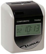 NEW COMPUMATIC TR440d HEAVY DUTY TIME CLOCK + 250 CARDS + 10 CARD RACK + RIBBON