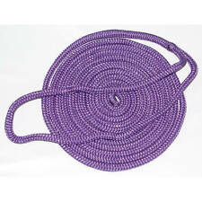 1/2 Inch x 25 Ft Purple Double Braid Nylon Mooring and Docking Line for Boats