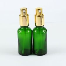 2Pcs 30ML Green (1.29*3.93inch) Glass Spray Bottle Refill Perfume Water Atomizer