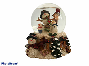 Holiday Lane Musical Globe 1999 Snowmen Have Yourself a Merry Little Christmas