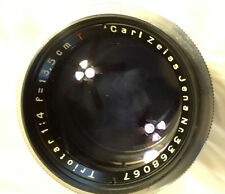 Vintage Carl Zeiss Jena 135mm 13.5cm f4 Triotar M39 Exakta Mount NM Germany