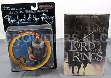 JRR Tolkien Lord of the Rings Three 3 Volume Edition + Middle Earth Toys Gimli