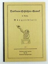 #e5739 Altes Buch: Das brave Schlächter-Gewerk in Berlin Bürgerblatt 1796