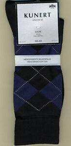 KUNERT Socken ANDREW, 3 Paar, Rauten-Design, Größe 39-42, schwarz, KUNERT 871100