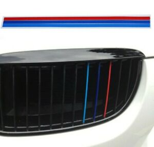 3x Strisce griglia M power BMW blu azzurro rosso colorati adesivi Sticker