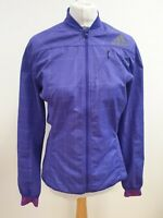 L32 WOMENS ADIDAS LILAC GREY CHECK  FULL ZIP LIGHTWEIGHT TRACKSUIT TOP UK 10
