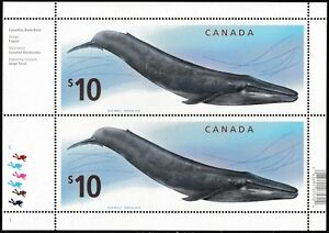 Canada 2405 Blue Whale $10 sheet (2 stamps) MNH 2010