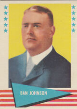 1961 Fleer #48 Ban Johnson HOFer AL President NRMT