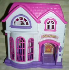 "Polyfect Toys Sweet Home Playhouse 10""  needs LR44 batteries, chips on walls"