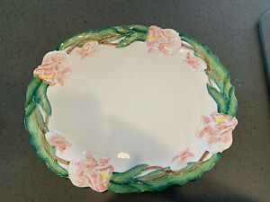 Fitz and Floyd serving platter Tulip Garden Pattern 16 inches by 13 inches