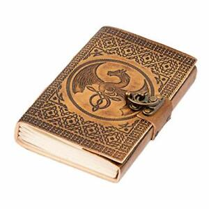 DreamKeeper Leather Journal - Handmade Embossed Notepad/Travel Journal/Diary
