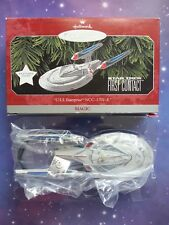 STAR TREK FIRST CONTACT USS ENTERPRISE NCC-1701-E HALLMARK ORNAMENT 1998