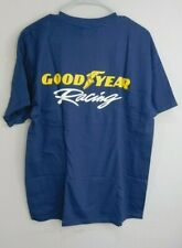 Men's Navy Blue Goodyear Racing T-Shirt with Pocket