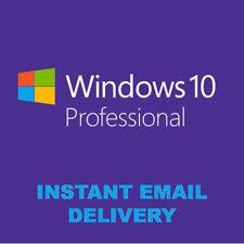 INSTANT WINDOWS 10 PROFESSIONAL PRO 32 64 BIT GENUINE ACTIVATION KEY LICENSE