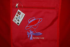 Red Hat Lady Embroidered Tote Purse Shoulder Bag Free Ship Embroidery