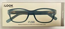 The Look Eyewear The Artist Premium Rubber Reading Glasses Blue +1.50 NEW