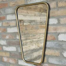 Vintage Gold Metal Rectangular Home Bathroom Glass Wall Mounted Vanity Mirror A