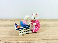 ORIGINAL Sylvanian Families Grocery Shopping Trolley Set White Mouse Mother Mel