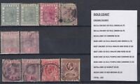 Gold Coast QV/KGV Collection of 10 Values MH/VFU J1633