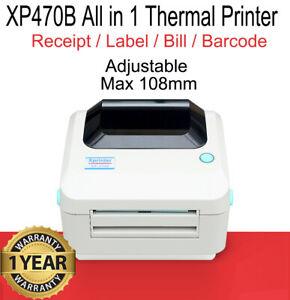 USB Thermal Printer Barcode Printer / Receipt Printer / Label Printer MAX 108mm