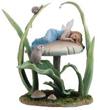 Dekofigur Fee schläft auf Pilz Sweet Dreams 23 cm Fairy Feenfiguren Elfe