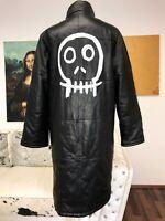 MANTEL Jacke 38 M L COAT echt LEDER UNIKAT designer Totenkopf skull hexe gothik