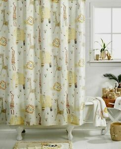 Creative Bath Animal Crackers Cotton Fabric Shower Curtain In Natural 72 x 72