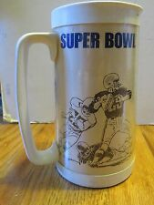 "SUPER BOWL VII MIAMI DOLPHINS vs WASHINGTON REDSKINS 6.25"" Thermo Plastic Mug"
