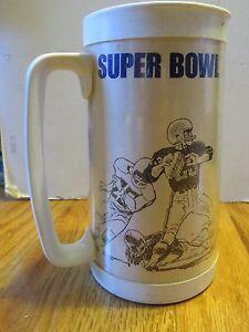 SUPER BOWL VII MIAMI DOLPHINS vs WASHINGTON REDSKINS Plastic Mug DON SHULA