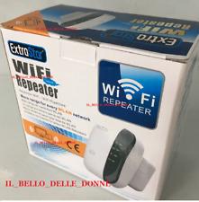 RIPETITORE AMPLIFICATORE WIRELESS EXTRASTAR 300Mbps AMPLIFICA RETE CASA WIFI