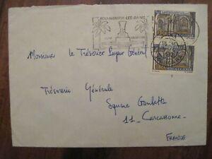 1972 Algérie Mascara Carcassonne FRANCE flight cover Air Mail paire Par Avion