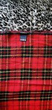 Ralph Lauren TARTAN Blanket / Throw ! Plaid PUNK Red Black Yellow Wool Vintage