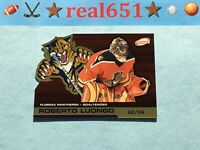 2002 Atomic Gold #46 ROBERTO LUONGO Die-Cut /99 | SP Parallel | Panthers Goalie
