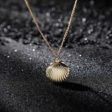 Gift Mermaid Women Beach Photo Locket Sea Shell Sweater Chain Jewelry Necklace