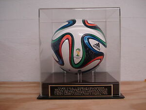 USA World Cup Soccer Ball Display Case With A 2015 Champs Engraved Nameplate