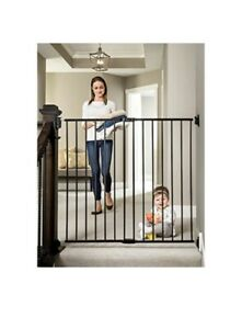 Regalo 2-in-1 Extra Tall Easy Swing Stairway and Hallway Walk Through Baby Gate