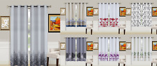 2PIECE SET GROMMET LINED BLACKOUT PANEL NATURE PRINTED WINDOW DRESSING CURTAIN