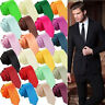 Men's Necktie Skinny Solid Jacquard Tie Classic Silk Plain Slim Woven Color