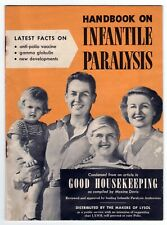 Handbook On Infantile Paralysis Good Houskeeping Lysol 1954 Polio