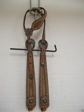 stunning NEW Sterling  Silver Circle Y  One Ear Headstall,   $349