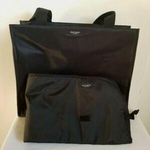 Kate Spade Black Nylon Diaper Bag Changing Mat