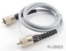 3ft RG-8/U Mini Coax UHF PL-259 Male/Male Grey Coax Cable, R-U8003