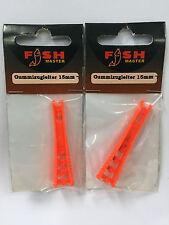 2 Stück Fish Master Gummitugleitern 15 mm Befestigung für Kopfruten (1St./0,50€)